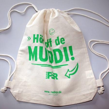 """RADIO PSR Turnbeutel """"Hör off de Muddi"""""""