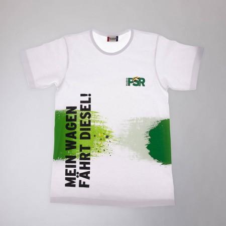 """RADIO PSR T-Shirt """"Mein Wagen fährt Diesel!"""""""
